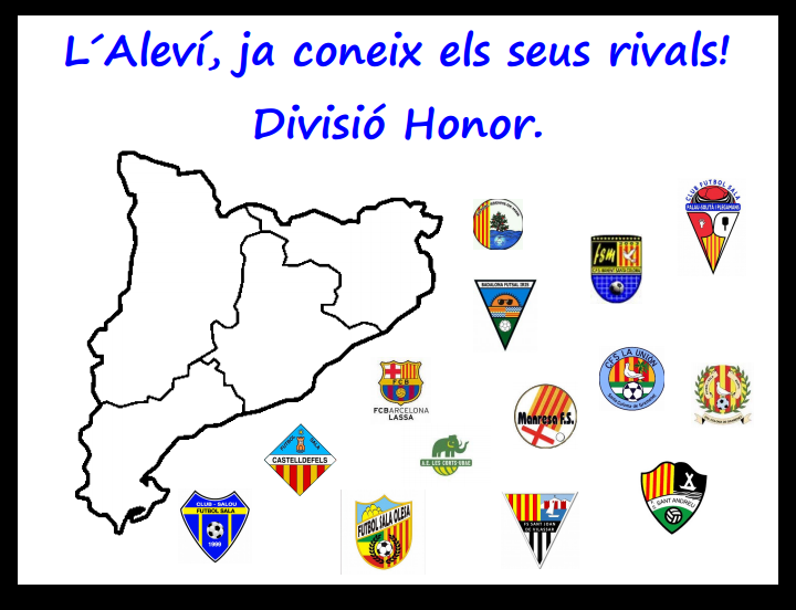 ALEVI| Composició Divisió Honor 2017/2018