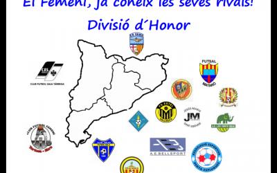 FEMENI SENIOR| Composició Divisió Honor 2017/2018