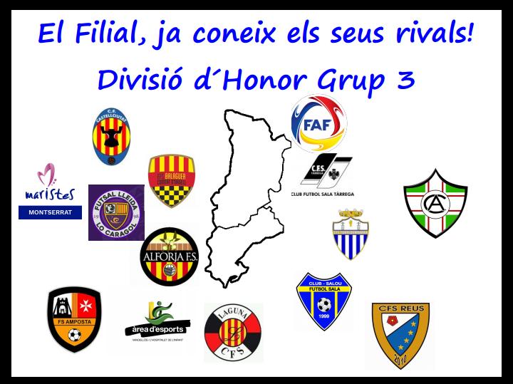 FILIAL   Composició Grup 3 Divisió Honor 2017/2018