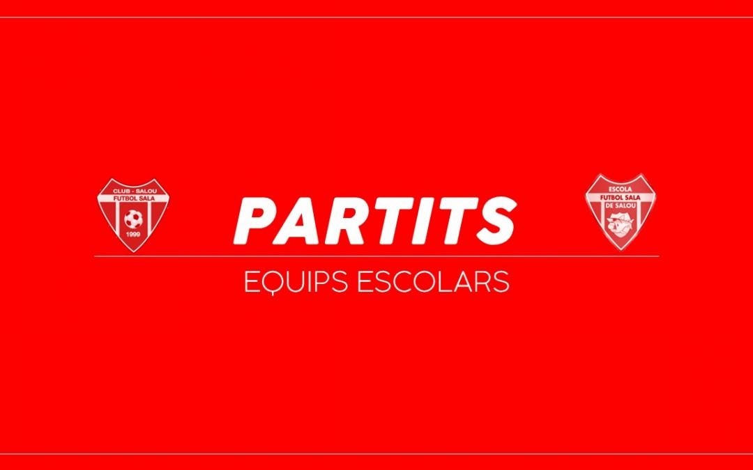 ESCOLA | Partits cap de setmana